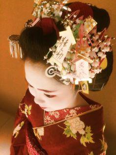 December ensemble - Maiko Umechie, Kamishichiken (via ブログ・アルバム)