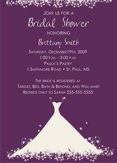 Bridal Shower Invitations Samples Free  Bridal Shower Invitations