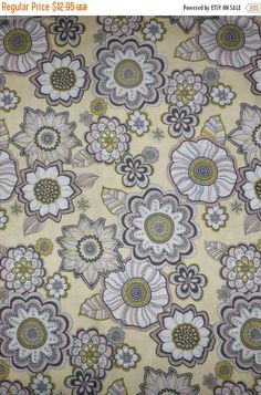 50% OFF SALE - Cotton Fabric, Home Decor, Quilt, Geometric, Floral, Modern Bliss by Robert Kaufman, Fast Shipping F448