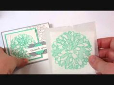 ▶ Faux Silk Technique with Stampin' Up! Creped Filter Paper - YouTube