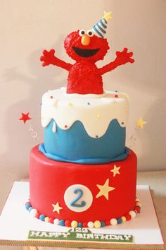 Elmo Cake made by @Lavece Smith