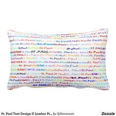 St. Paul Text Design II Lumbar Pillow