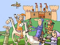 Caballeros y Castillos ::: C.P. Poeta Juan Ochoa (Avilés) Spanish Class, Teaching Spanish, Medieval, Country Day School, Social Science, School Teacher, Arts And Crafts, Classroom, Comics