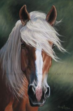 Palomino Horse Print of pastel painting. Equine Art by Cindy Price 2009 - although there does seem to be something wrong with the proportions of the heat, the more I look at this painting the more it draws me in.