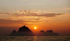 Sunrise at Dokdo, Korea  독도의 일출