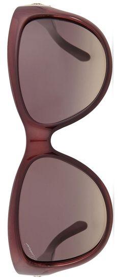 Gucci Cat-Eye Diamantissima Sunglasses, Burgundy