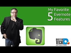 My 5 Favorite Evernote Features - YouTube