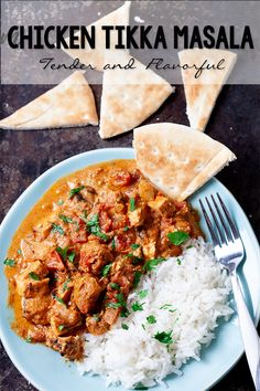 Chicken Tikka Masala Recipe - made with tandoori tofu Recipe For Chicken Tikka, Chicken Tikka Masala, Chicken Curry, Chicken Recipes, Masala Recipe, Delish, The Best, Pork, Stuffed Peppers