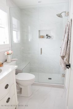 Small bathroom renovation and 13 tips to make it feel luxurious/faux marble - So Much Better With AgeSmall Bathroom Renovation - 13 Tips to Make the Space Feel Luxurious - So Much Better With Age #bathroomdesign #bathroomideas #somuchbetterwithage #frenchcountry #homedecorideas #smallbathroomrenovations #bathroomrenovations