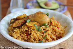 Colombian Arroz Atollado de Pollo y Chorizo (Creamy Rice with Chicken and Chorizo) - My Colombian Recipes Colombian Dishes, My Colombian Recipes, Colombian Food, Rice Recipes, Pasta Recipes, Chicken Recipes, Cooking Recipes, Chicken Soups, Chorizo