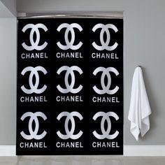 Chanel coco logo black Shower Curtain design vintage custom gift birthdays present fashion favorites home living new hot super rare bathroom bath up