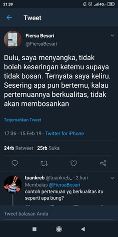 Idolaa jugaa Keren karyanya mas fiersa😎 is part of Quotes rindu - Quotes Rindu, Message Quotes, Reminder Quotes, Tumblr Quotes, Text Quotes, Daily Quotes, Book Quotes, Life Quotes, Twitter Quotes