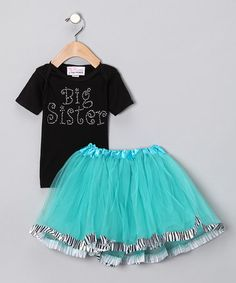 Take a look at this Black 'Big Sister' Tee & Tutu - Infant, Toddler & Girls by Sparkle Couture on #zulily today!