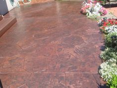 Stamped Concrete Patio Designs - Bing Images Concrete Patio Designs, Backyard Renovations, Hardwood Floors, Flooring, Stamped Concrete, Backyard Patio, Outdoor Ideas, Landscaping Ideas, Bing Images