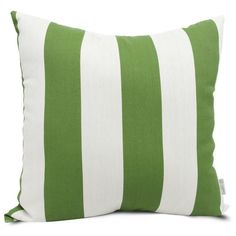 Majestic Home Goods 85907220924 Sage Vertical Stripe Extra Large Pillow 24x24