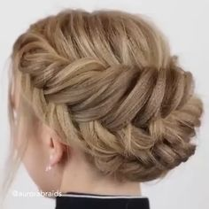 Amazing braided hairstyle ideas by Easy Hairstyles For Long Hair, Braided Hairstyles Tutorials, Up Hairstyles, Hairstyle Ideas, Russian Hairstyles, Mother Of The Groom Hairstyles, Mother Of The Bride Hairdos, Up Dos For Medium Hair, Medium Hair Styles