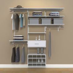 Organized Living FreedomRail 6 Foot White Wood Closet Kit