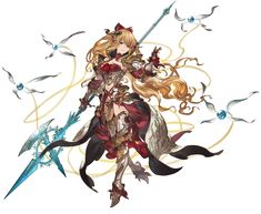 View an image titled 'Grand Vira Art' in our Granblue Fantasy art gallery featuring official character designs, concept art, and promo pictures. Fantasy Character Design, Female Character Design, Character Art, Character Concept, Fantasy Illustration, Character Illustration, Pretty Drawings, Art Drawings, Granblue Fantasy Characters