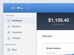Stripe.com Dashboard UI