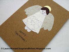 "Cute Handmade Card >How To: Angel Christmas Card by Laura ""Lupin"" Howard"