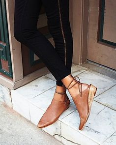 ankle wrap mini wedge -OMG PERFECT for day to day wear and tear! Comfy and chic just slope your foot in and you're good to go, better than wedge sneakers
