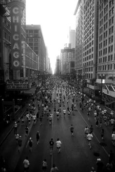 Chicago Marathon. One of the best tours of the city you can take.
