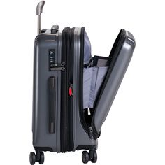 Buy the Delsey Helium Titanium International Carry-On Spinner Trolley at eBags - A sleek ridged exterior adds a sophisticated touch to this versatile carry-on spinner case from Dels