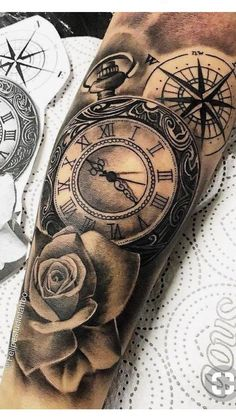 rose watch compass ink for alexia