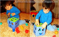 Activitati educative de la suflet la suflet: Dezvoltarea motricitatii fine pentru varsta 1 - 2 ani - idei de jocuri si activitati Nerf, Toys, Montessori, Activity Toys, Games, Toy, Beanie Boos