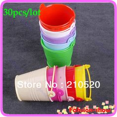 Wholesale 30pcs/lot Wedding Party Supply Mini Cute Chocolate Candy Bucket Keg Favors Kisses DIY Sale