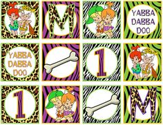 Flintstones Pebbles & Bam Bam Toppers by grinandgiggles on Etsy