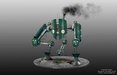 #mecha #bot #illustration #conceptart #chile #machine #scifi #steampunk #cyberpunk #tutorial #tattoo #sketch #digitalart #model