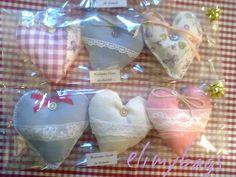 Set 3 cuori profuma biancheria alla lavanda stile country fatto a mano♥, by Elimybags, 12,00 € su misshobby.com