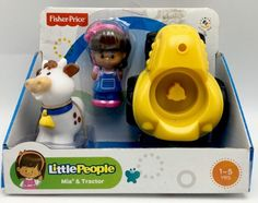 Fisher Price Little People Mia & Tractor Baby Toys Birthday Party Gift Playset  | eBay