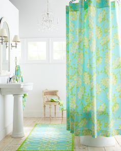 @Lilly Pulitzer Sister Florals Shower Curtain