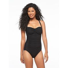 e9e4ece83126e black one piece swim suit for those days at the beach! One Piece For Women