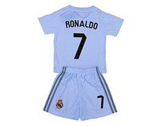 2015/2016 RONALDO #7 Home Real Madrid Football Soccer Kids Jersey & Short.