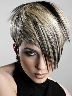 Black and blonde hair highlights
