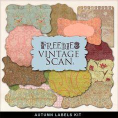 Freebies Kit of  Vintage Style Labels