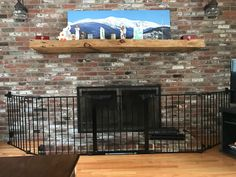Hearth Gate done by Safe Beginnings Childproofing!