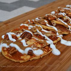 Sweet Potato Salted Caramel Protein Pancakes #cleaneating #vitacost #proteintreats