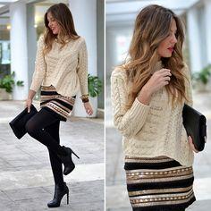 Trendtation.com : look-Mi aventura con la moda  Look en tonos negros y dorados brillantes. Un look para brillar