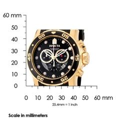 Invicta Men's 6981 Pro Diver Collection Chronograph Black Dial Black Polyurethane Watch | Found on NewsPilot.net - News and Trends Reporter