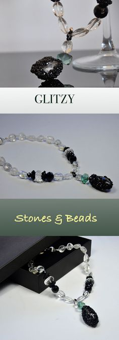 Handmade with love CRYSTAL rock crystal and fluorite pearls for this beautiful necklace Offer 10% discount until the 15th May on all Items,check for coupon code on my Etsy shop.