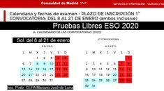 Pruebas Libres 2020 Periodic Table, Madrid, Summoning, Baccalaureate, Periotic Table