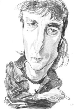 John Lennon, illustration by Philip Burke. Available at the Friends of Bob Newman online benefit auction: http://www.biddingowl.com/Auction/index.cfm?start=1&sort=ItemID&sortDir=DESC&viewType=1&auctionID=1484&category=1&catName=Antiques%20and%20Art