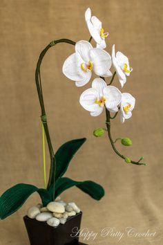 PATRÓN de orquídea ganchillo polis     Orchideeën     la por HappyPattyCrochet