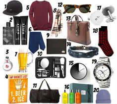 Valentine's Day gift guide - for him | Get the links at trufflesandtrends.com