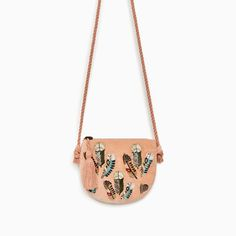 Image 1 of FEATHER DETAIL CROSSBODY BAG from Zara
