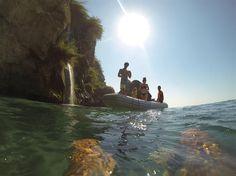 Snorkelling near #Maro beach and its #waterfalls into the Mediterranean Sea.